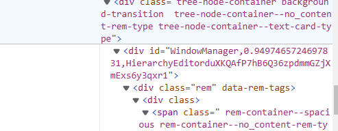 id is shown in old version's html of a rem